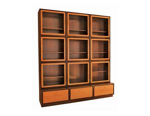 Zero FS3410170, Bookcase with glass doors