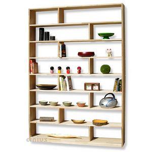 Zig Zag, Custom-made wooden bookcase