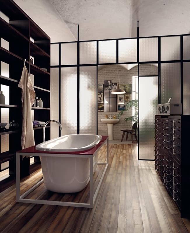 Freestanding bath with tub, for Hotel Room | IDFdesign
