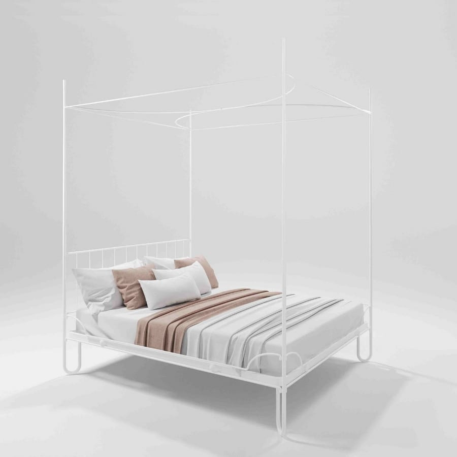 Artemia, Canopy bed in forged iron