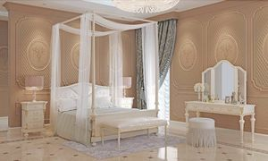Carlotta bed, Canopy bed in wood