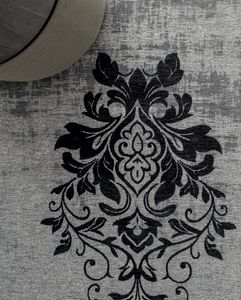 PALMANOVA, Central damask industrial yarn carpet with fringes
