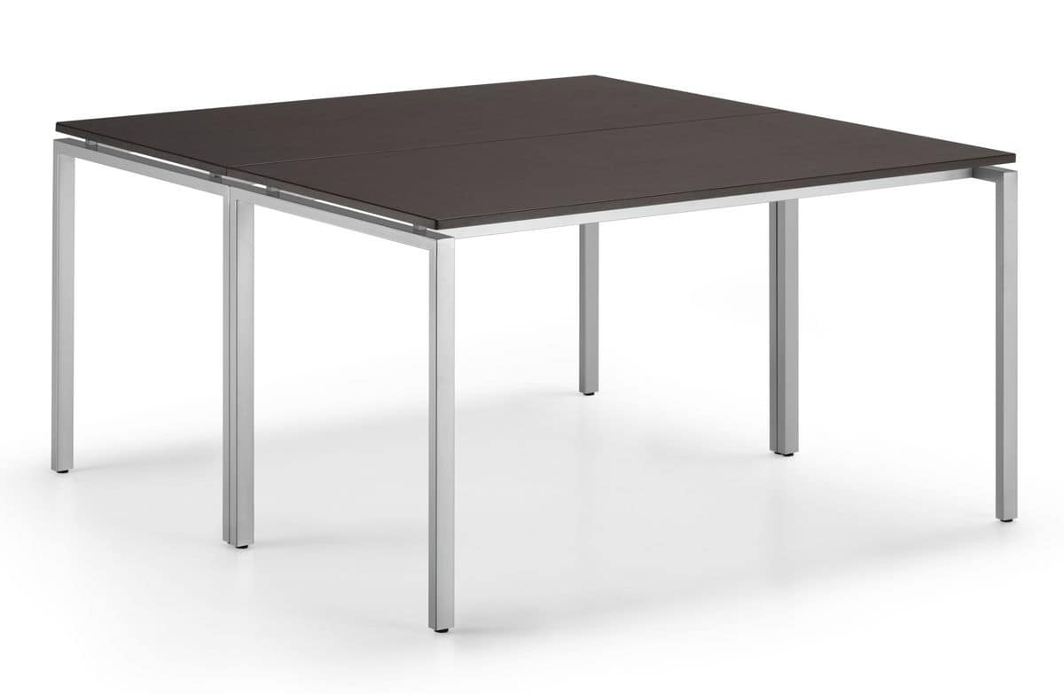 KUDOS 960, Rectangular table in painted metal, for office