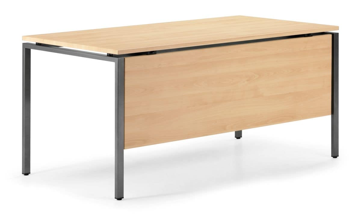KUDOS 980, Rectangular table in metal and laminate, for meeting rooms