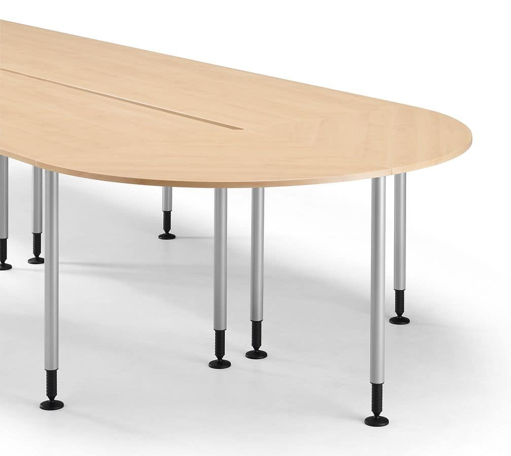 SYSTEM 790, Simple metal table with adjustable feet, for office