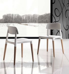 Art. 024 Artika, Space saving chair, comfortable and stackable