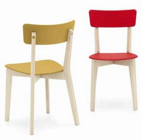 Holly, Wooden chair with plastic seat and back