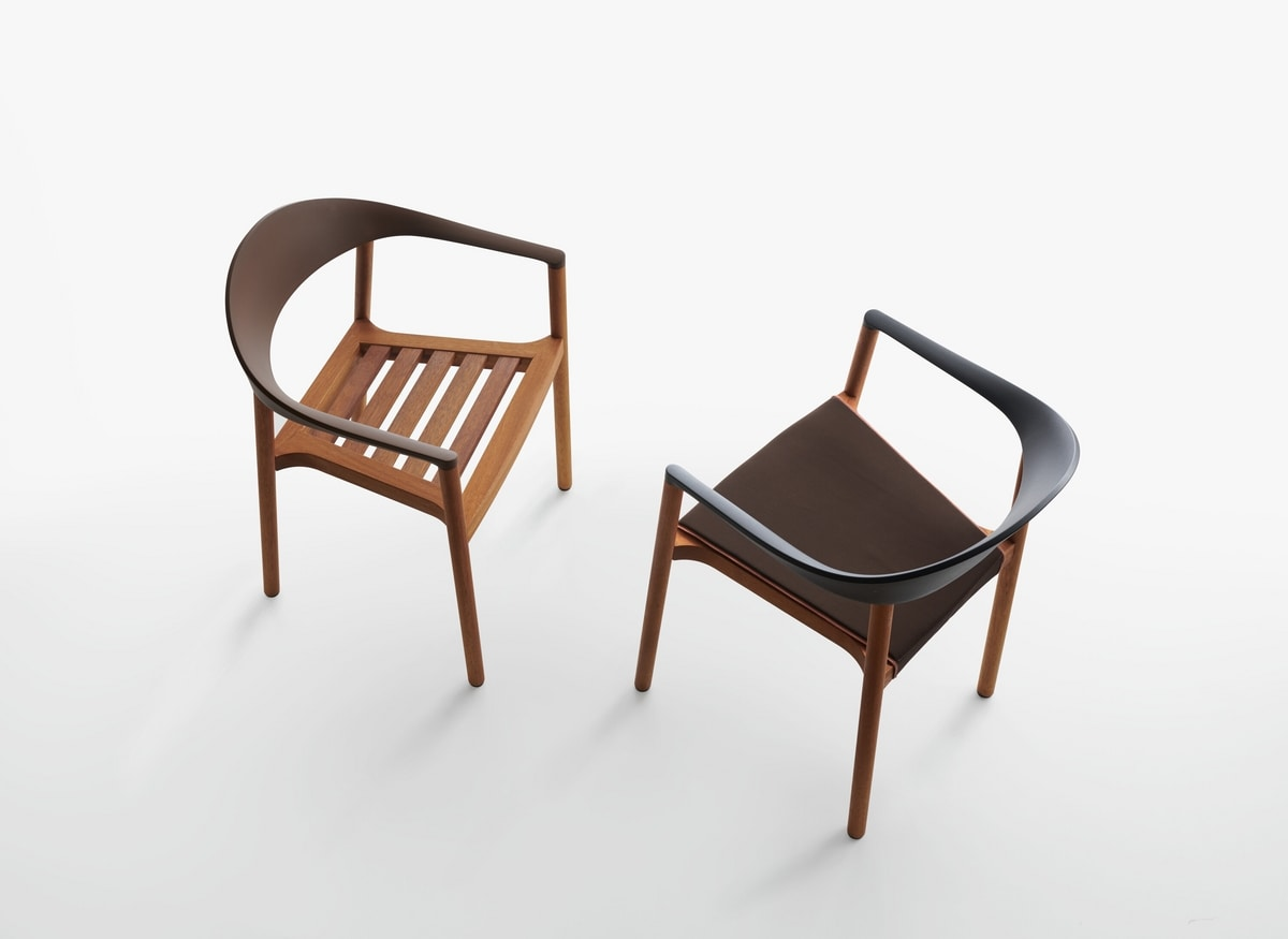 Monza mod. 1209-40 outdoor, Outdoor armchair in iroko massive wood