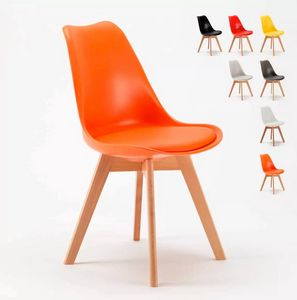 Tulip NORDICA Dining Chair with Cushion Scandinavian Design for Caf�s SN635PU, Scandinavian style chair