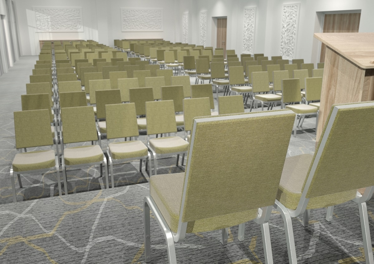 Adamas 66/3, Aluminum chair, padded, for conferences