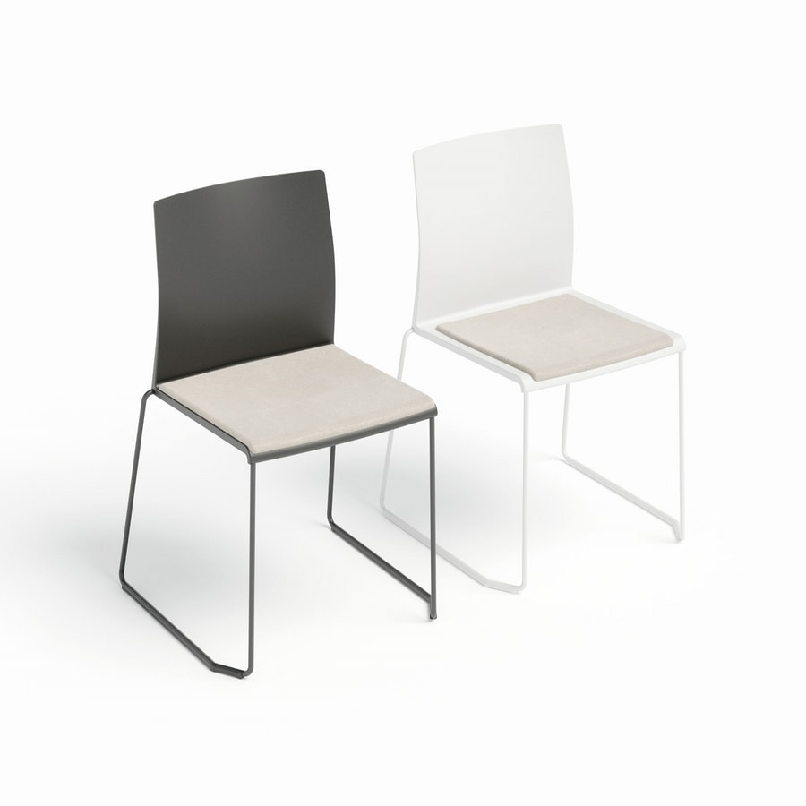 Artesia Cushion, Conference chair with upholstered seat