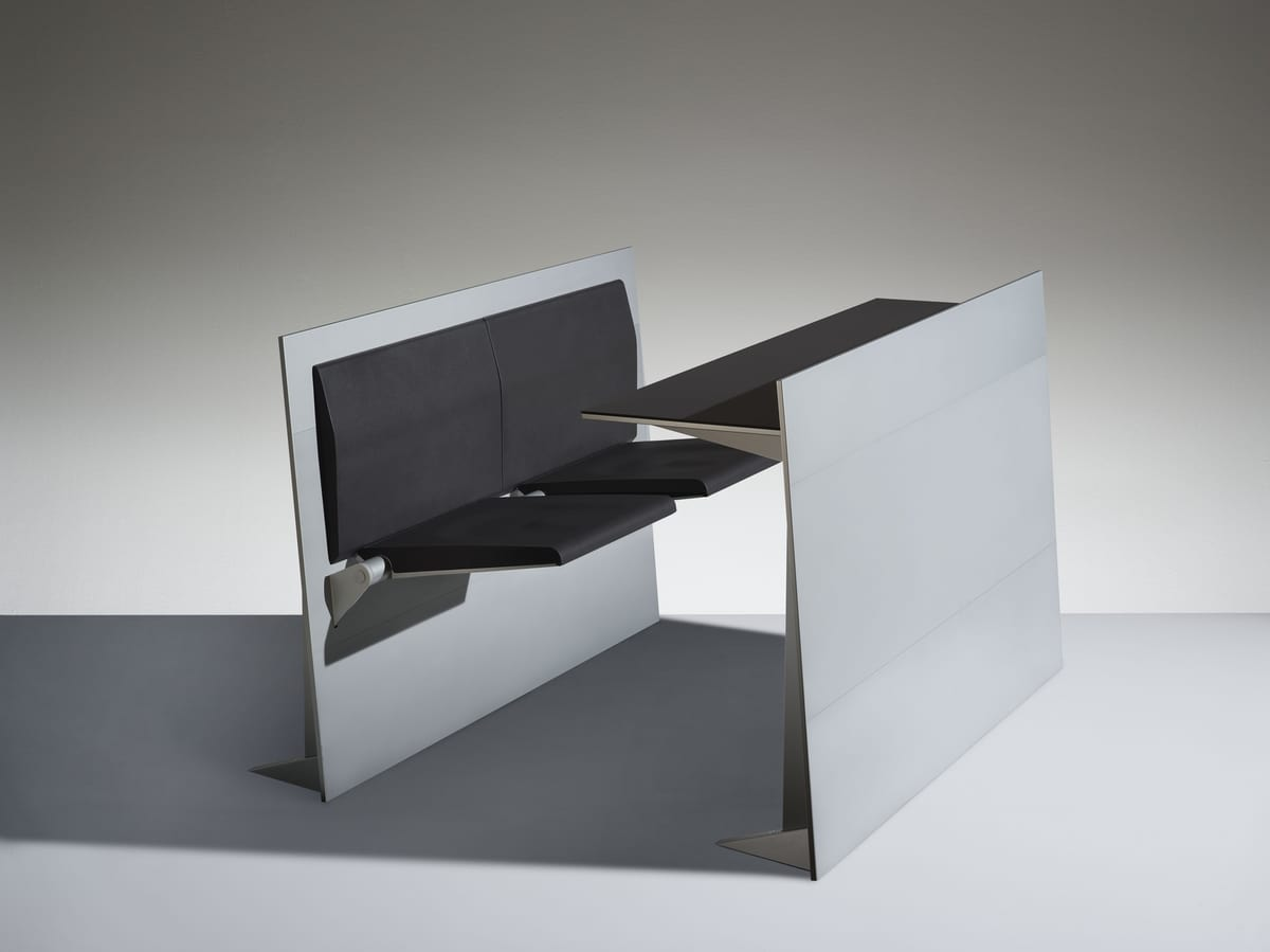 BLADE, Study benches with folding seat