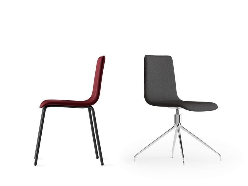 CARPET, Swivel chair, padded shell, 4-spoke chrome base