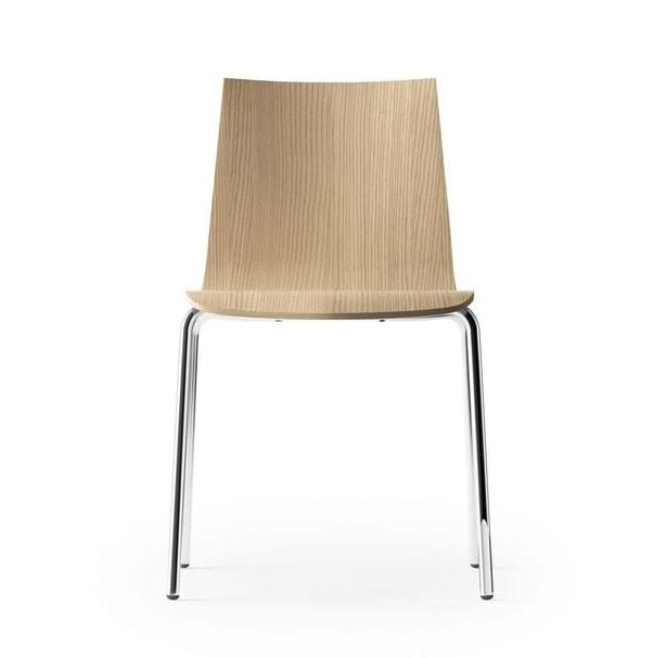 CARPET WOOD, Chair in bleached oak, on a four-legged frame