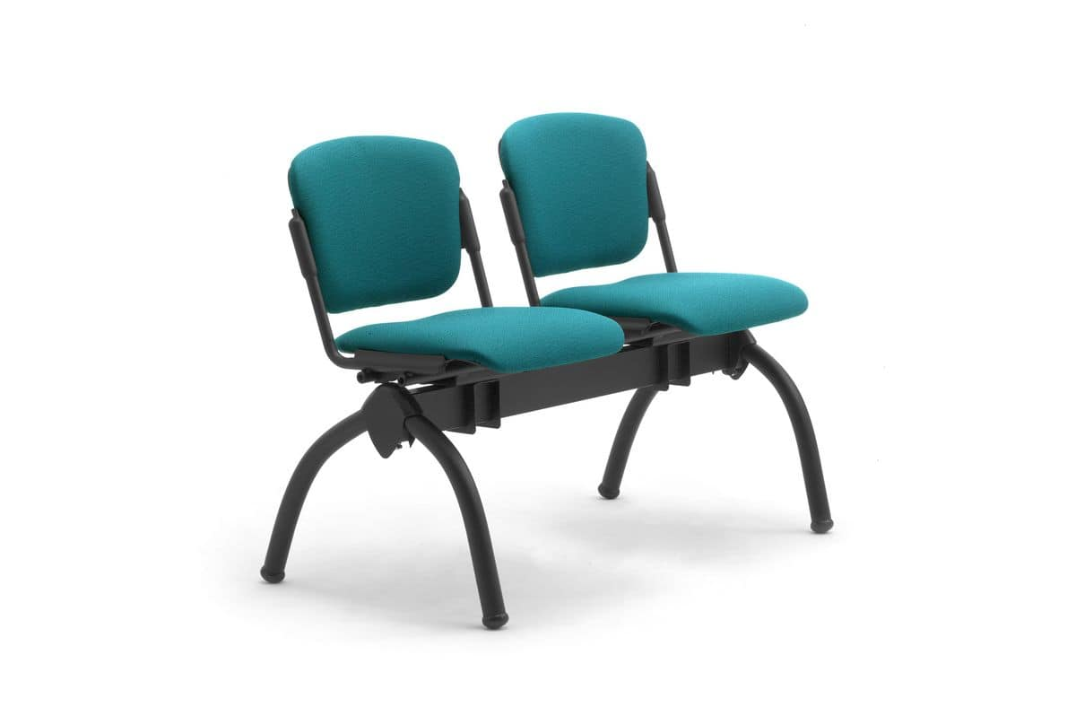 Cortina mixed bench, Bench with upholstered reclining seats, for universities