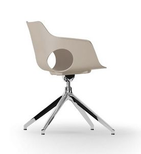 JAMILA, Swivel chair, polypropylene shell, pyramidal aluminum base