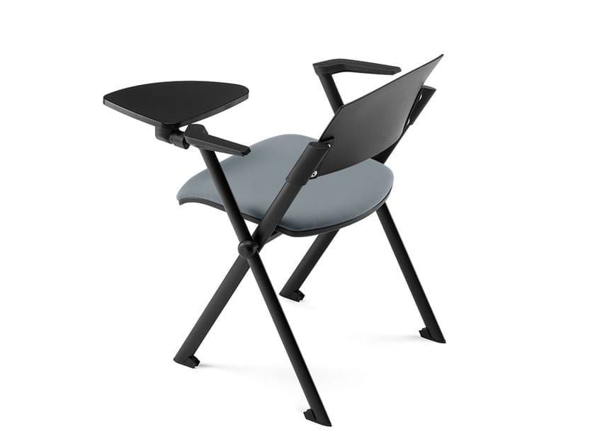 KLIC, Stackable chair, with armrests and tablet