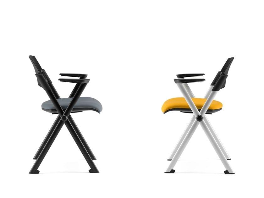 KLIC, Chair with padded folding seat, polypropylene back