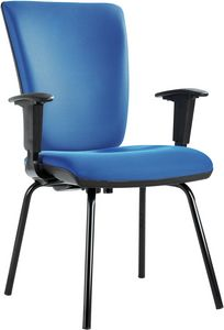 Orion 4 legs, Conference or guest office chair, with padded seat and back