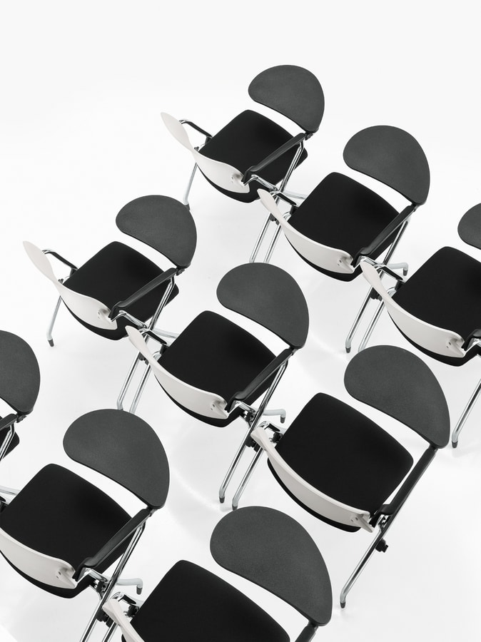 Q-Go IM, Padded conference chair with wheels
