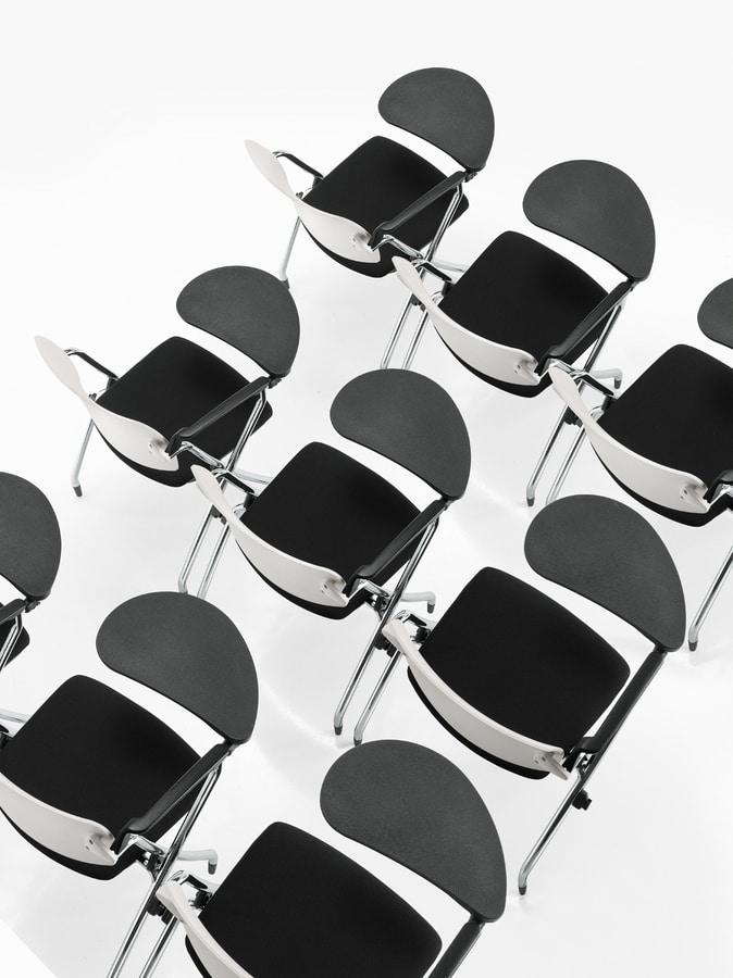 Q-Go IMPP, Stackable chair, with castors