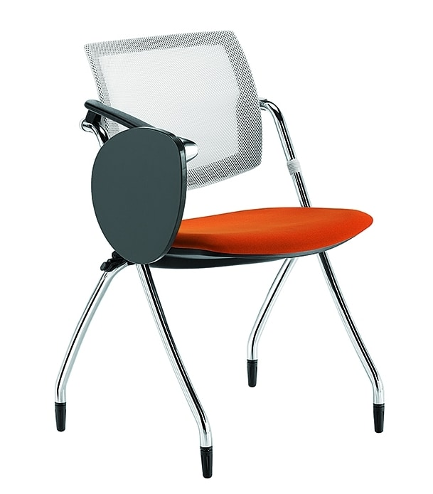 Q-Go RETE, Conference chair with wrtiting tablet, mesh backrest