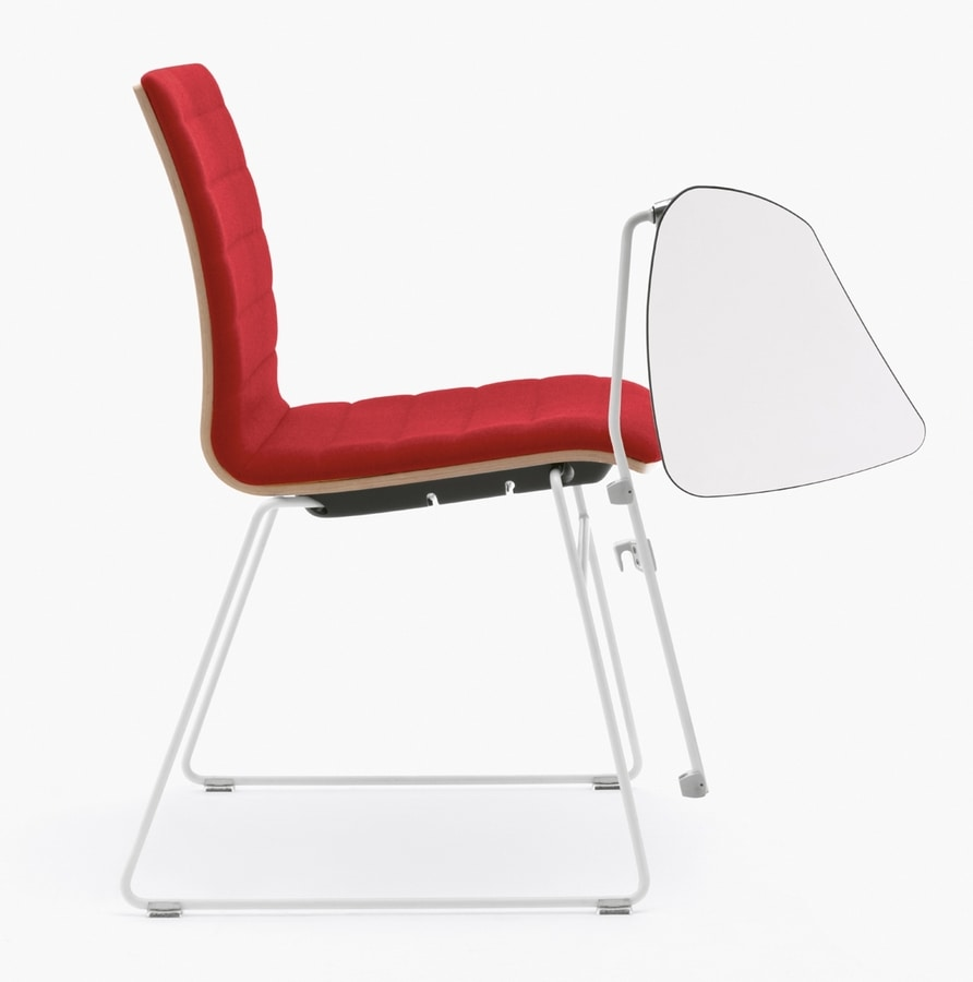 Q2 WIM, Attachable conference chair, with writing tablet