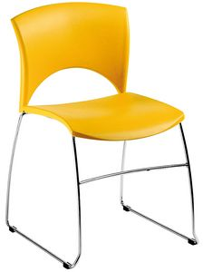 Sole, Chair in metal and polypropylene, for waiting and conferences