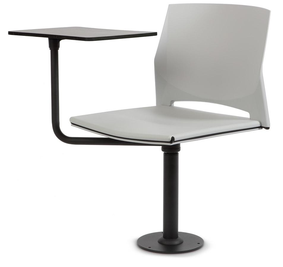 TREK 040 ARTO, Chair with writing tablet