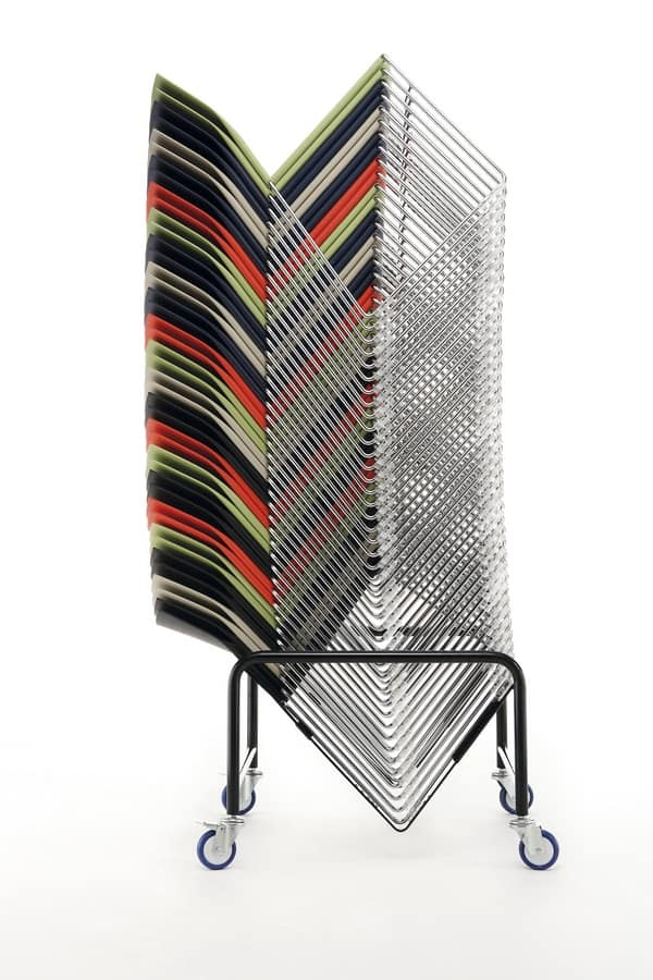 Welcome 01, Chair for meetings and conferences, padded, stackable