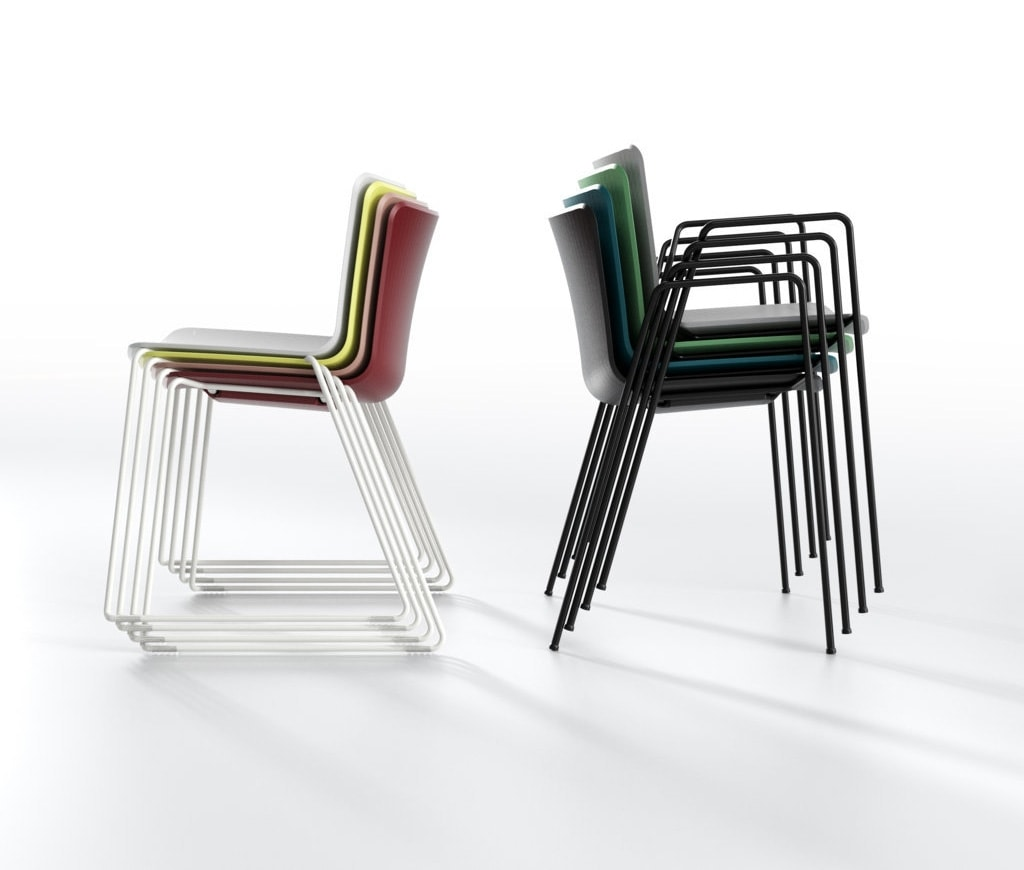 Zaza SL, Stackable chair with sled base