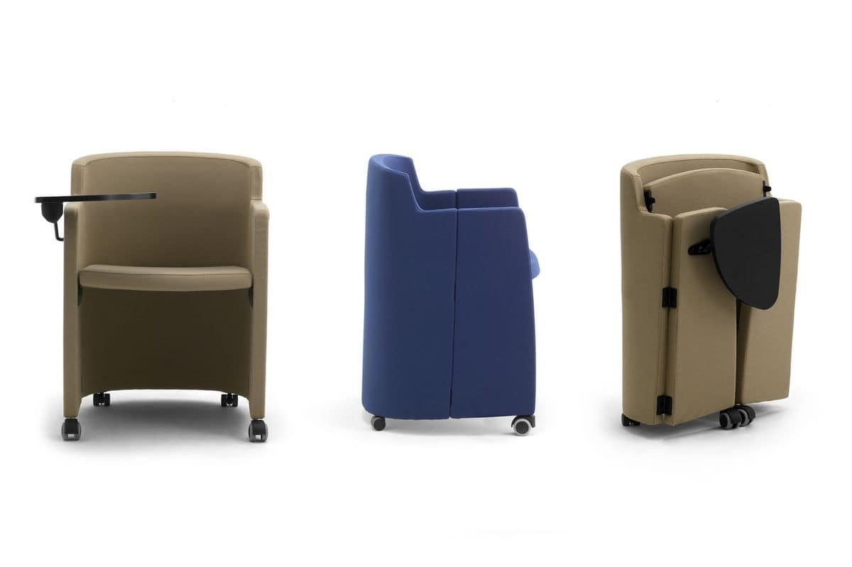 Clac, Tub armchair on wheels for waiting rooms
