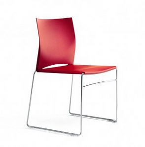 HIP UP, Stackable chair, to furnish young and informal environments