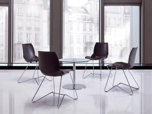 Kaleidos 4, Conference chair in metal for Meeting rooms