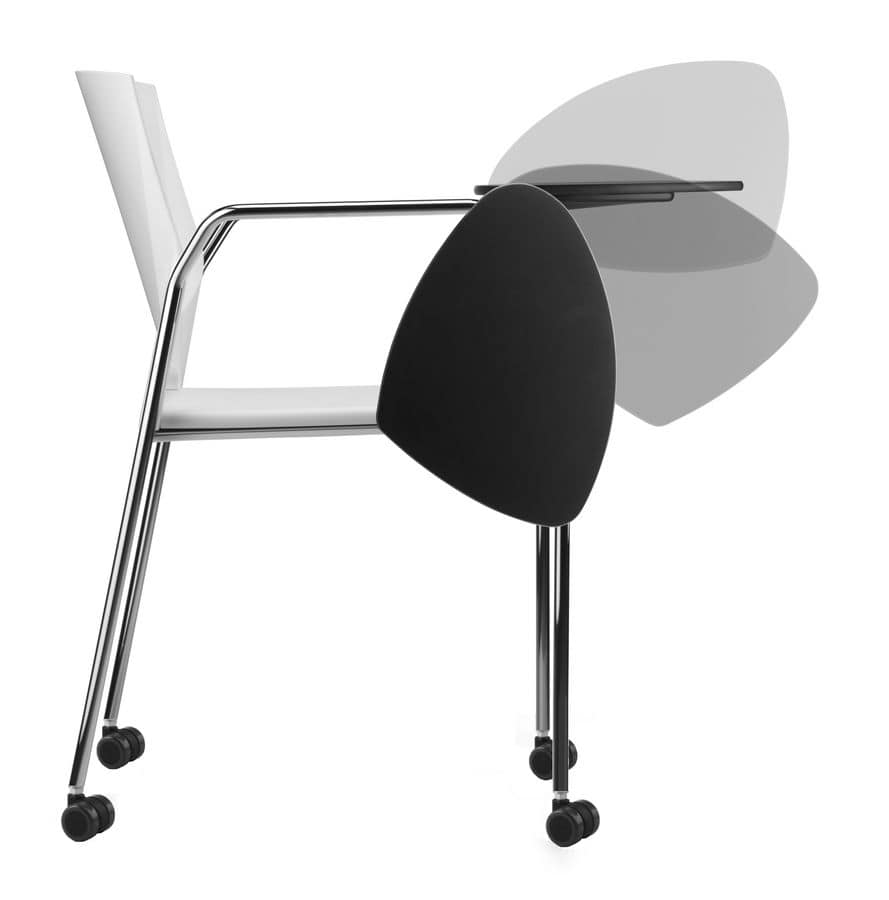 TREK 038 RTDX, Conference chair in metal and polymer, with wheels