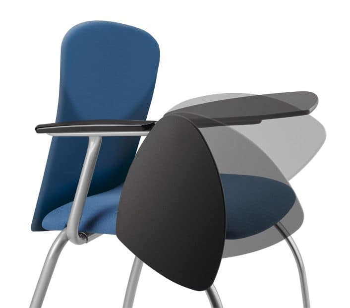 VULCAN 1275 ZTDX, Upholstered chair for conferences, with writing tablet