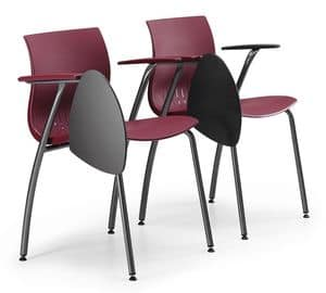 WEBBY 338 TDX, Conference chair in metal, with plastic shell