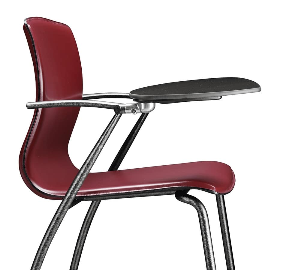 WEBTOP 385 TDX, Metal chair with leather shell covering