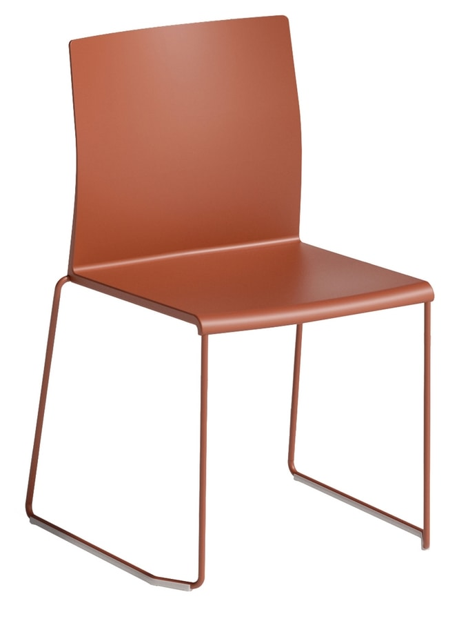 Artesia S, Chair with sled base, stackable