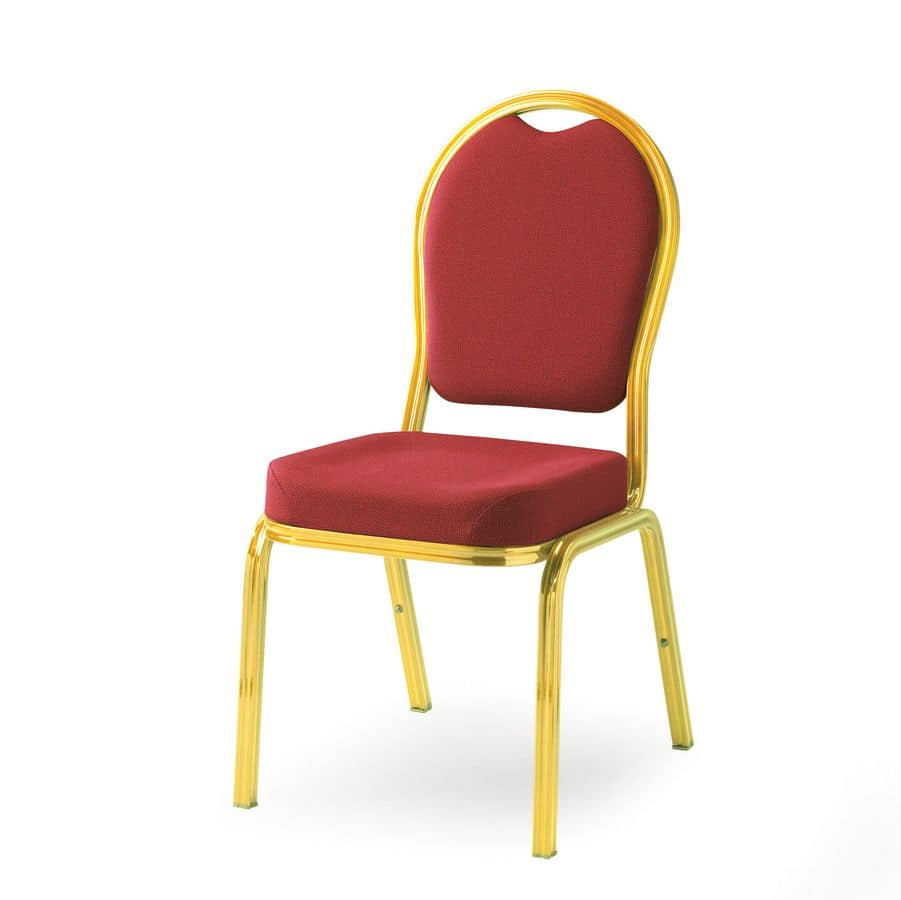 Cello 58/3, Light and stackable chair for conference