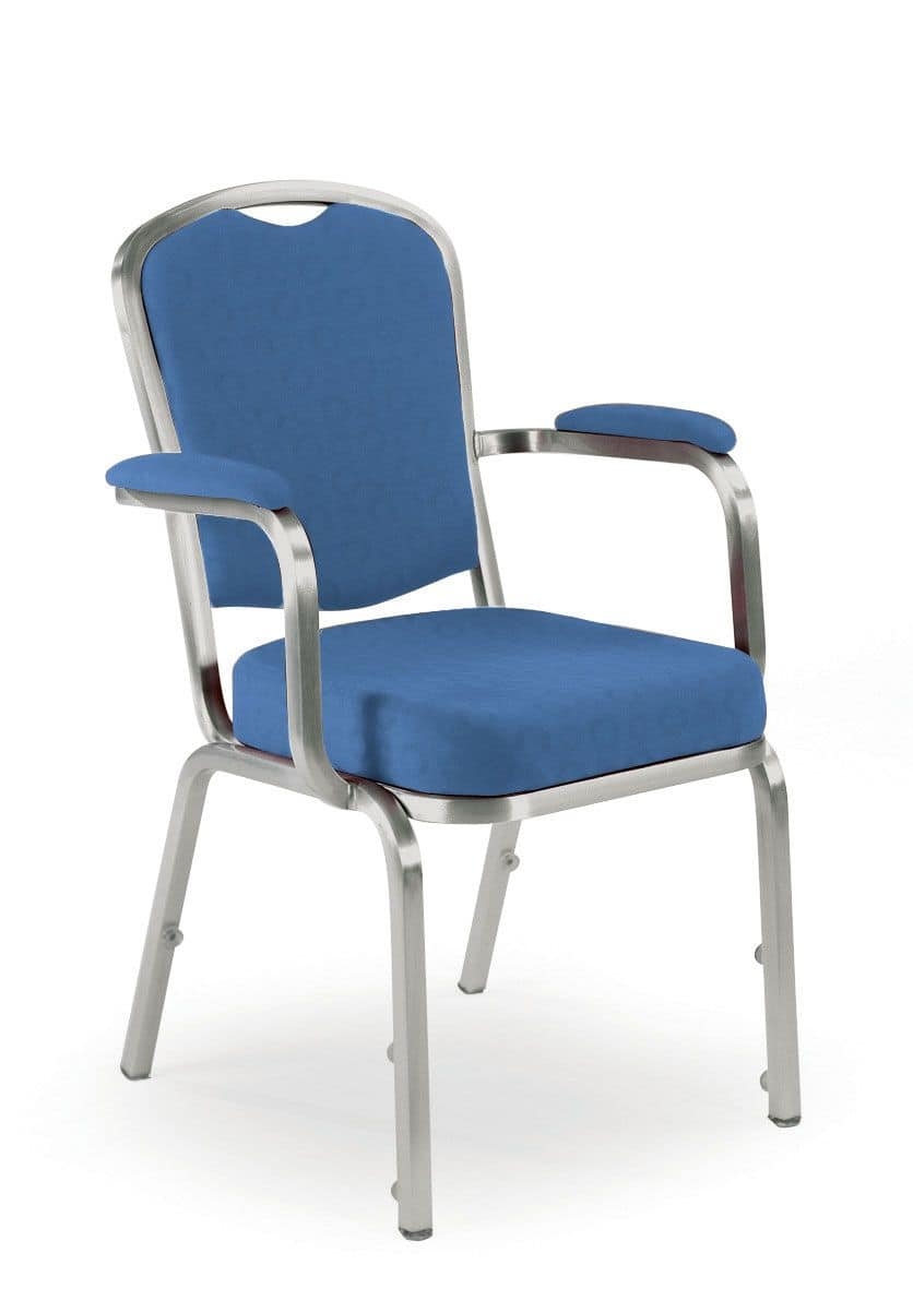 Fiora 60/5A, Chair with armrests, banquet and conference facilities, stackable