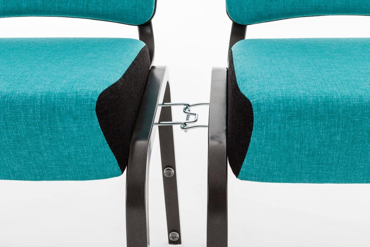 Inicio 09/2HA, Colorful chair for conference room, linkable and stackable