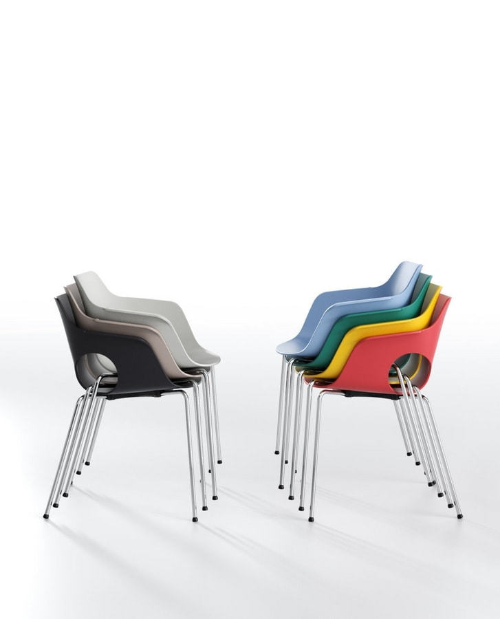 Manta, Stackable chair for training, meeting and event rooms