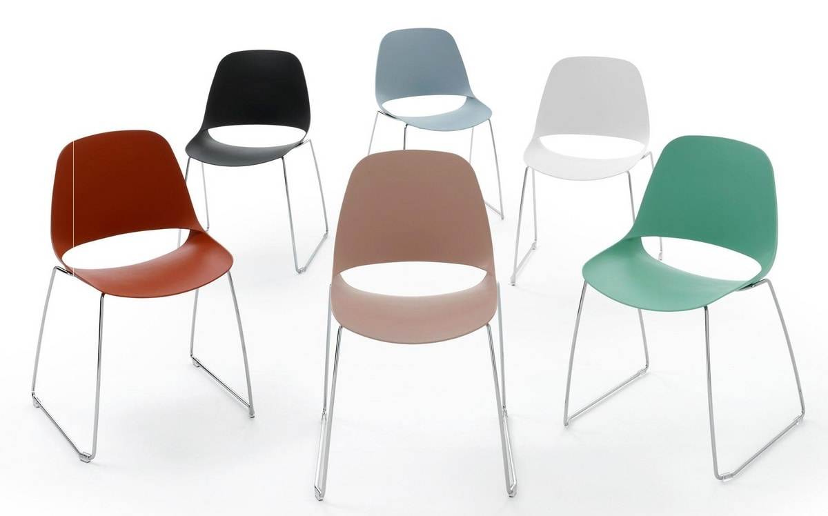 Meeting - T, Stackable chairs with sled base