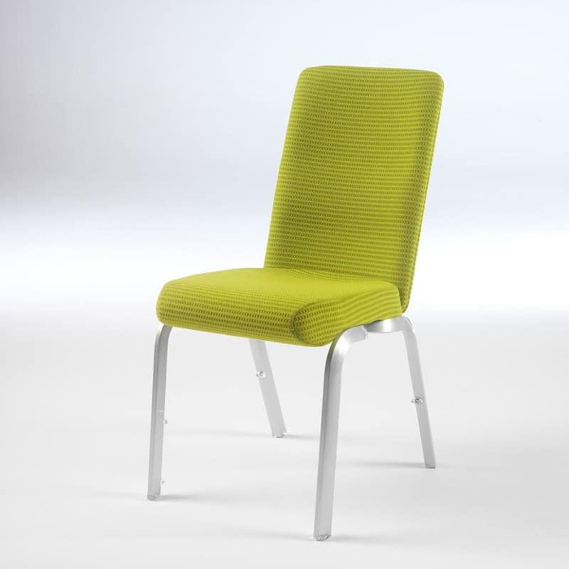Orvia 12/3, Chair with anatomic seat, stackable, for meeting rooms