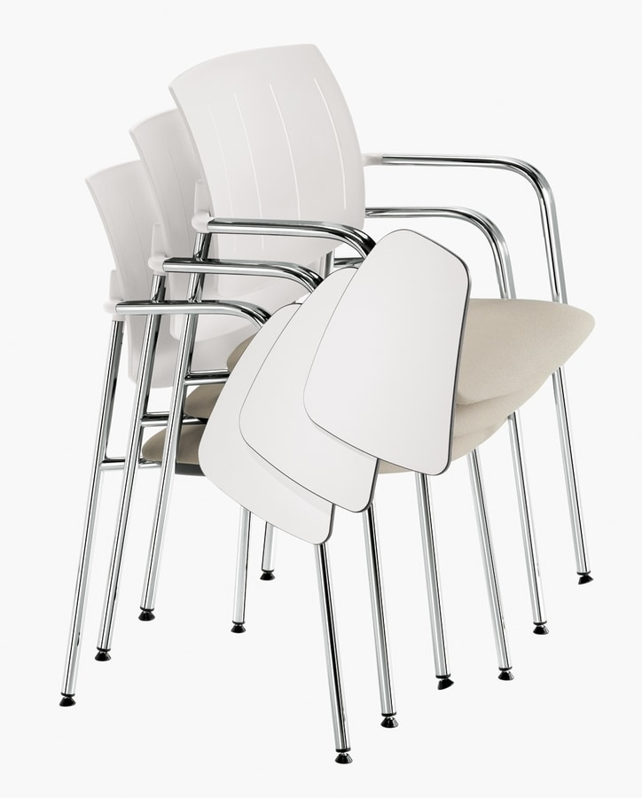 Q44, Stackable chairs with anti-panic table