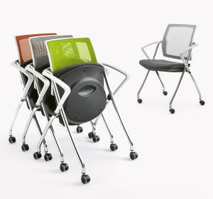 Q-Go XL RETE, Chair stackable horizontally or vertically