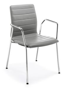 Q2 IM, Upholstered chair with armrests, for conferences