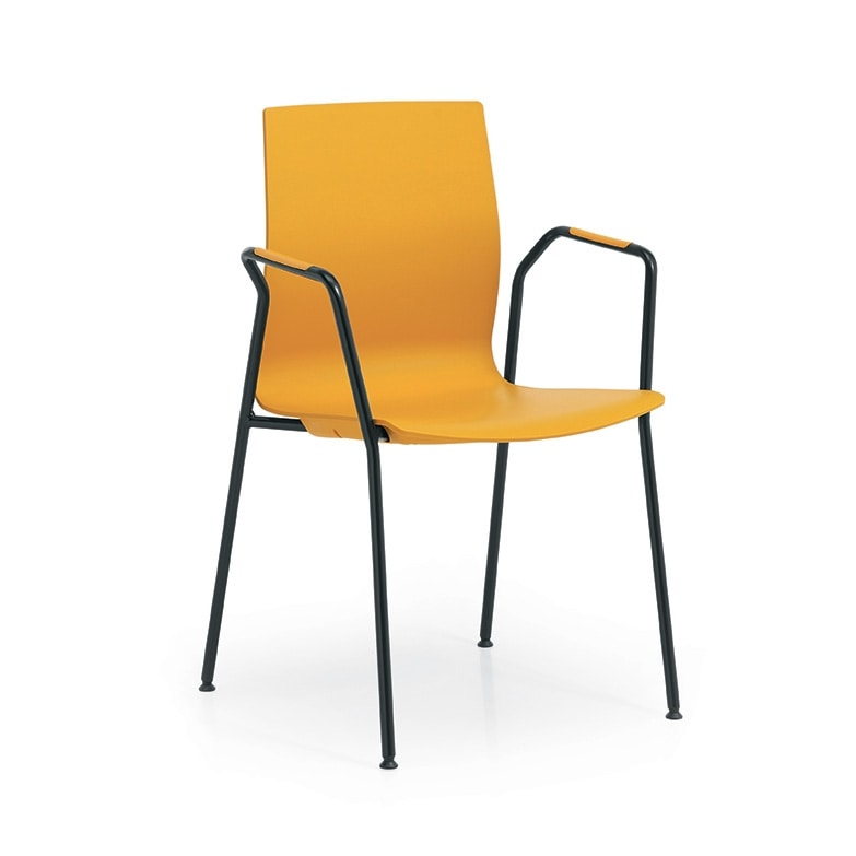 Q3, Conference chair, with plastic shell