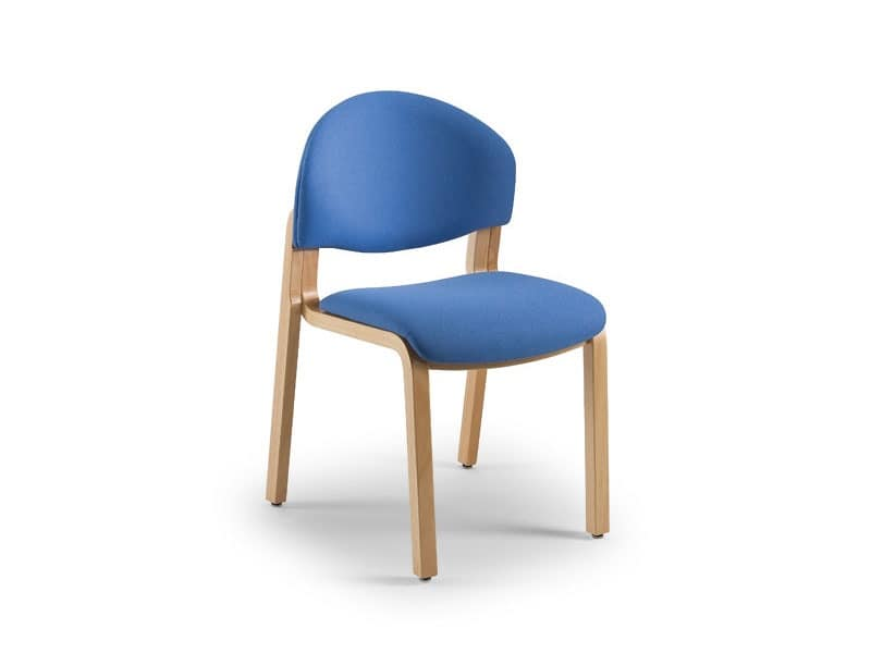Soleil 68151, Upholstered chair with wooden structure, for waiting rooms